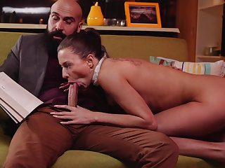 Blowing her boss