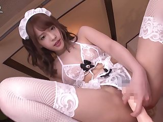 Japanese teen encircling pigtails got fucked by four guys