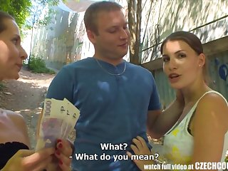 CZECH COUPLES Young Couple Takes Money for Institute Foursome