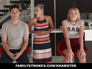 FamilyStrokes - Scavenger Hunt with sis turns lustful