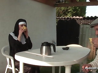 Young french nun sodomized in threesome approximately Papy Voyeur
