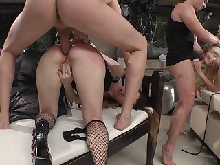 Full anal first of all the babes asses in proper orgy