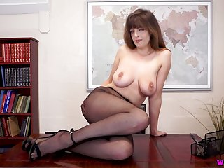 Zealous alone and Fescennine on virago Kate Anne wanna tease her slit a bit