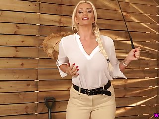 Low-spirited nicely shaped English nympho Lucy Zara exposes her racy boobs