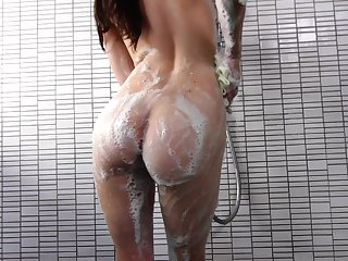 Euro porn star Veronica is soaping round her sexy body in along to shower