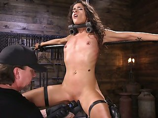 Plighted and in a holding pattern chick Victoria Voxxx gets punished by one kinky dude