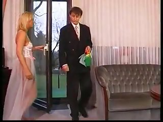 Sexy blonde tie the knot getting face fucked hard