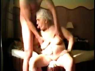 Busty Granny near webcam