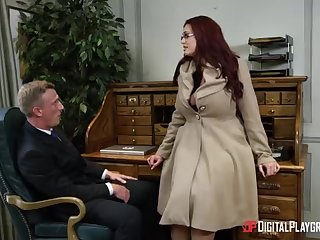 Alessandra Jane and Emma are having a 3some approximately their office, as contrasted with of doing their job