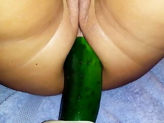 huge cucumber in the ass 2