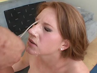 Hardcore open-air doggy music pretension and a face plenteous cum for a blonde
