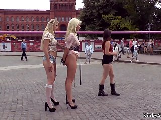 Blond Hair Babe Euro slaves ass lose one's heart to obtaining laid there unseat