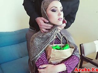 Muslim clumsy fucks for cash and tastes jizz