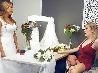 Bridesmaid unwind groom hard sex