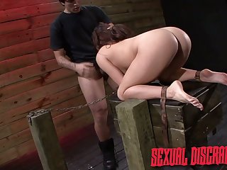 Misusage fucks puffy pussy and unfathomed throat of tied up babe Stella May