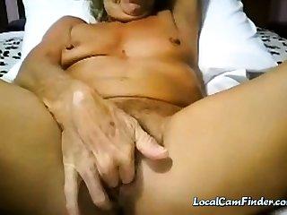 Granny cums not susceptible cam