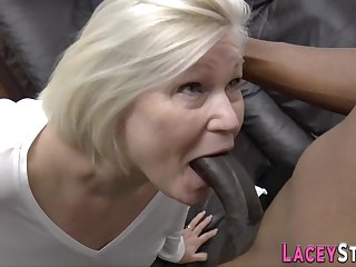 Plowed grandma sucking big black cock - indecent quality