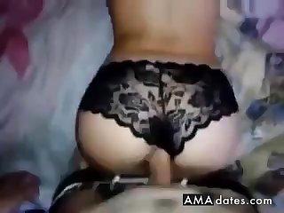 Panties getting cum covered