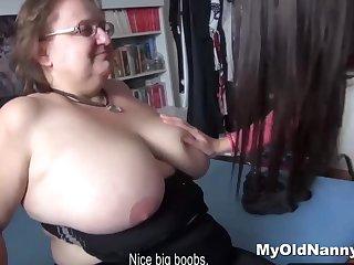 Granny wins a male stick for Two
