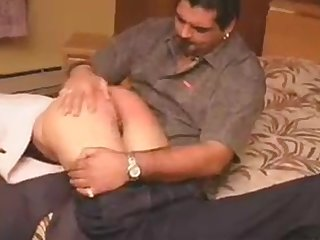 Young Girl gets hard spanking