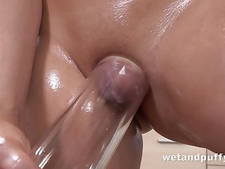 Teen In Oiled nearby Puffy Pussy Play - malediction toffee-nosed definition