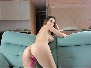 lovely girl with a cute ass having fun on webcam