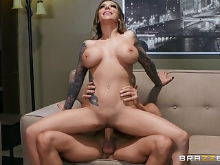 Hot cougar rides in ill-considered manners until the guy cums inside her