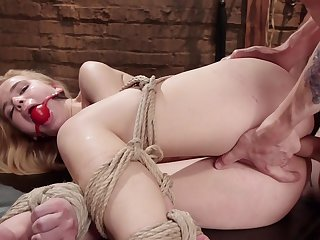 Young Alina West likes euphoria rough and is hogtied and ass banged by a Master