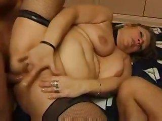 Crazy granny seduced younger pals ot fuck