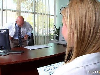 Quickie fucking in the cards explore with blonde secretary Molly Benett