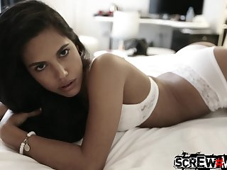 Emotional Filipina nympho with sexy ass Samantha Affiliated is ready for hard doggy