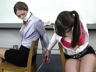 Secretaries BDSM bondage action