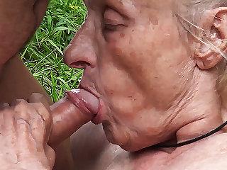 hideous 86 years old nurturer public banged