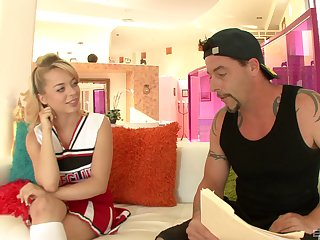 Hardcore fucking on a difficulty bed with handsome blonde Aurora Monroe