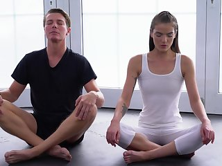Yoga lesson drives both these lovers to nutty as a fruit cake fuck moments