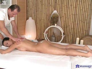 Amazing fucking exceeding the massage table with seductive Denise Sky