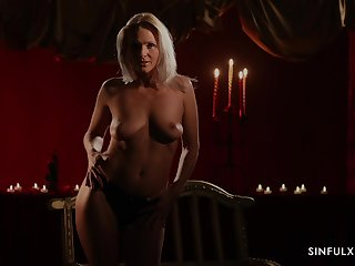 Sweet Kathy Anderson takes off the clothes and teases with say no to body