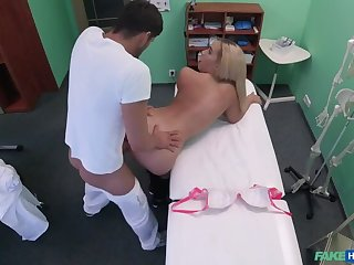 Buxom Russian Babe Swallows Cumload
